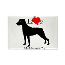 Mountain Cur Rectangle Magnet