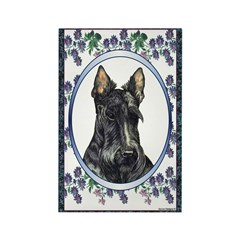Scottish Terrier Designer Rectangle Magnet (100 pa