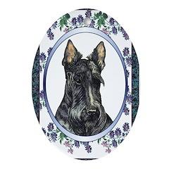 Scottish Terrier Designer Oval Ornament