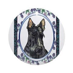 Scottish Terrier Designer Ornament (Round)