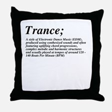 Trance definition Throw Pillow