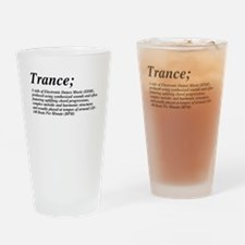 Trance definition Drinking Glass