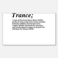 Trance definition Decal