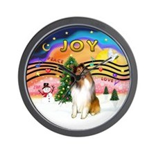 XMusic2-Collie (SW) Wall Clock