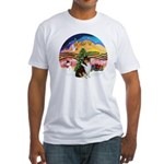 XMusic2-Collie (Tri) Fitted T-Shirt
