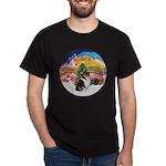 XMusic2-Collie (Tri) Dark T-Shirt