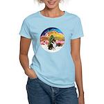 XMusic2-Collie (Tri) Women's Light T-Shirt