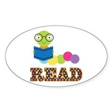 Fun Read Bookworm Decal