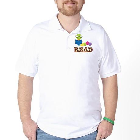 Fun Read Bookworm Golf Shirt