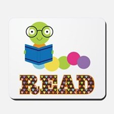 Fun Read Bookworm Mousepad