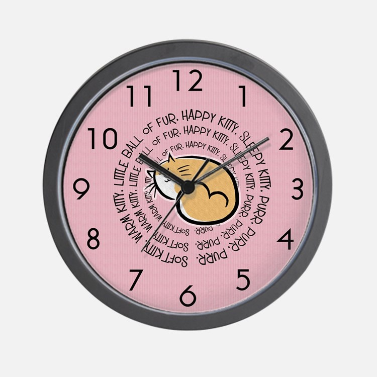 Sing Soft Kitty Wall Clock