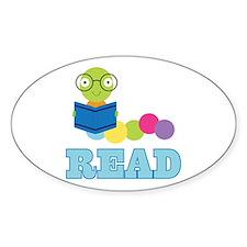 Fun Read Bookworm Decal