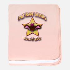 Pet Rat Stars baby blanket - pink