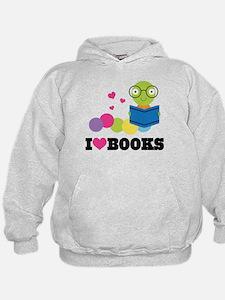 Bookworm I Heart Books Hoodie