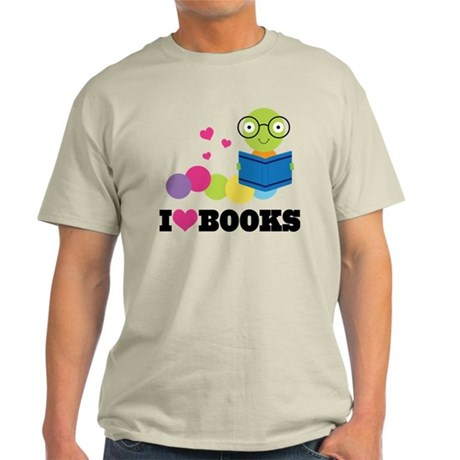 Bookworm I Heart Books Light T-Shirt