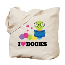 Bookworm I Heart Books Tote Bag