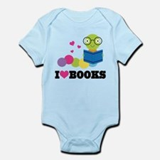 Bookworm I Heart Books Infant Bodysuit