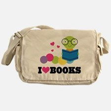 Bookworm I Heart Books Messenger Bag