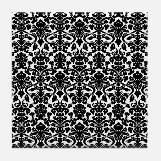 damask pattern Tile Coaster