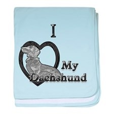 B@W Dachshund 2 baby blanket