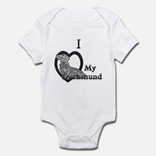 B@W Dachshund 2 Infant Bodysuit