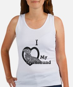 B@W Dachshund 2 Women's Tank Top