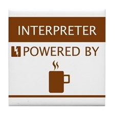 Interpreter Powered by Coffee Tile Coaster