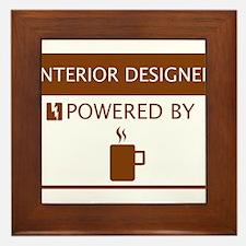 Interior Designer Powered by Coffee Framed Tile