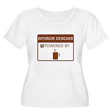 Interior Designer Powered by Coffee T-Shirt