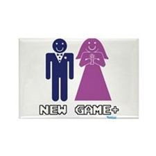 New Game + Marriage Rectangle Magnet