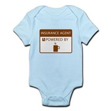 Insurance Agent Powered by Coffee Infant Bodysuit