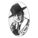 "Douglas Fairbanks as ""Zorro"" Oval Sticker"