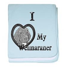 B@W Weimaraner 1 baby blanket