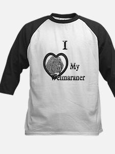 B@W Weimaraner 1 Kids Baseball Jersey