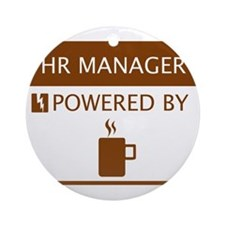 HR Manager Powered by Coffee Ornament (Round)
