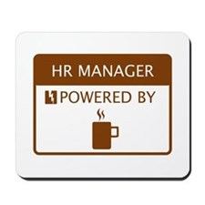 HR Manager Powered by Coffee Mousepad