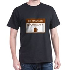 HR Manager Powered by Coffee T-Shirt