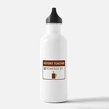 History Teacher Powered by Coffee Water Bottle
