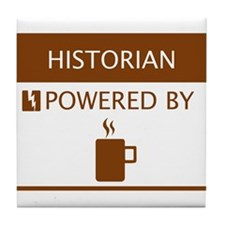 Historian Powered by Coffee Tile Coaster
