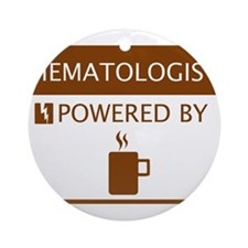 Hematologist Powered by Coffee Ornament (Round)