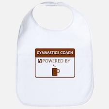 Gymnastics Coach Powered by Coffee Bib