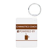 Gymnastics Coach Powered by Coffee Keychains