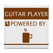 Guitar Player Powered by Coffee Tile Coaster