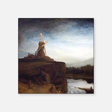 """Rembrandt The Mill Square Sticker 3"""" x 3"""""""