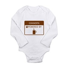 Grandpa Powered by Coffee Long Sleeve Infant Bodys