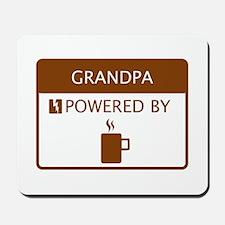 Grandpa Powered by Coffee Mousepad