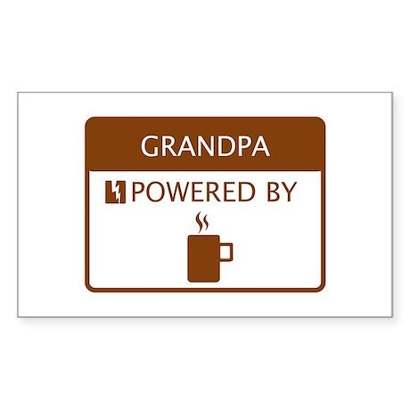 Grandpa Powered by Coffee Sticker (Rectangle)
