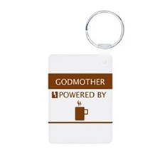 Godmother Powered by Coffee Aluminum Photo Keychai