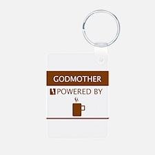 Godmother Powered by Coffee Aluminum Photo Keychai