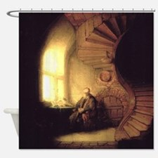 Rembrandt Philosopher in Meditation Shower Curtain